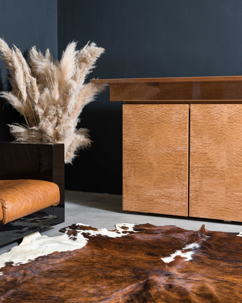 Sideboard by GOffredi for Saporiti in birds eye maple