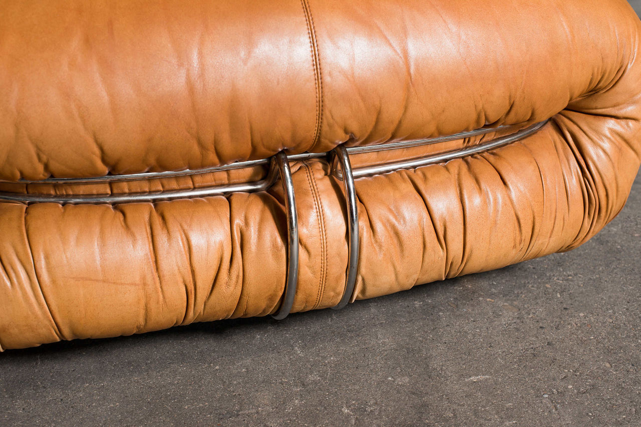 Soriana Chaise Lounge  and Ottoman by Afra and Tobia Scarpa for Cassina 1969