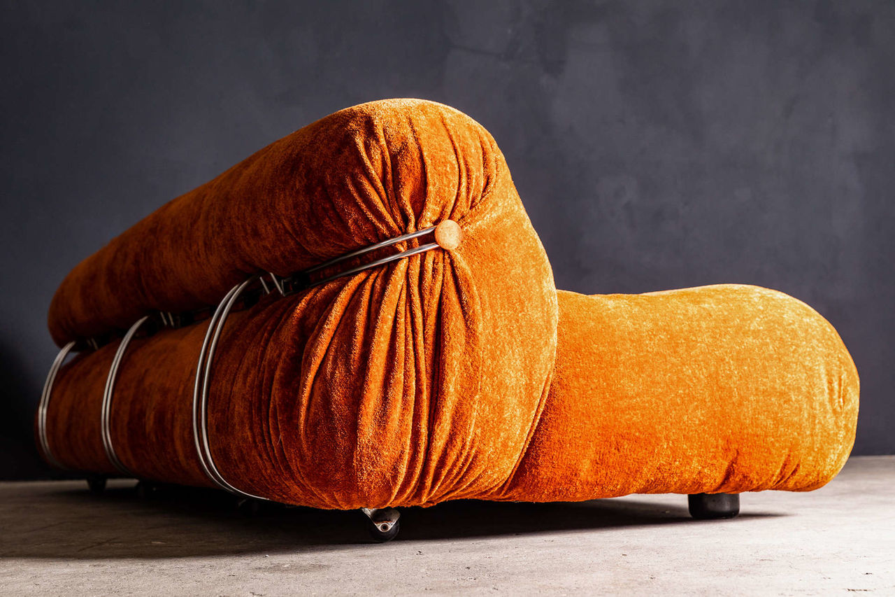 Soriana Sofa by Afra and Tobia Scarpa for Cassina 1970 Italy