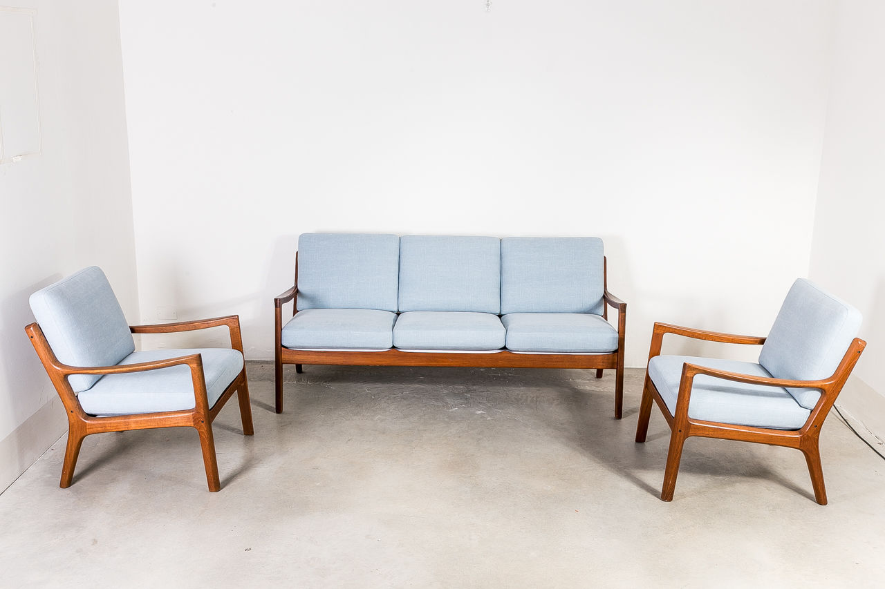 Teak Wood Sofa by Ole Wanscher Denmark 1951