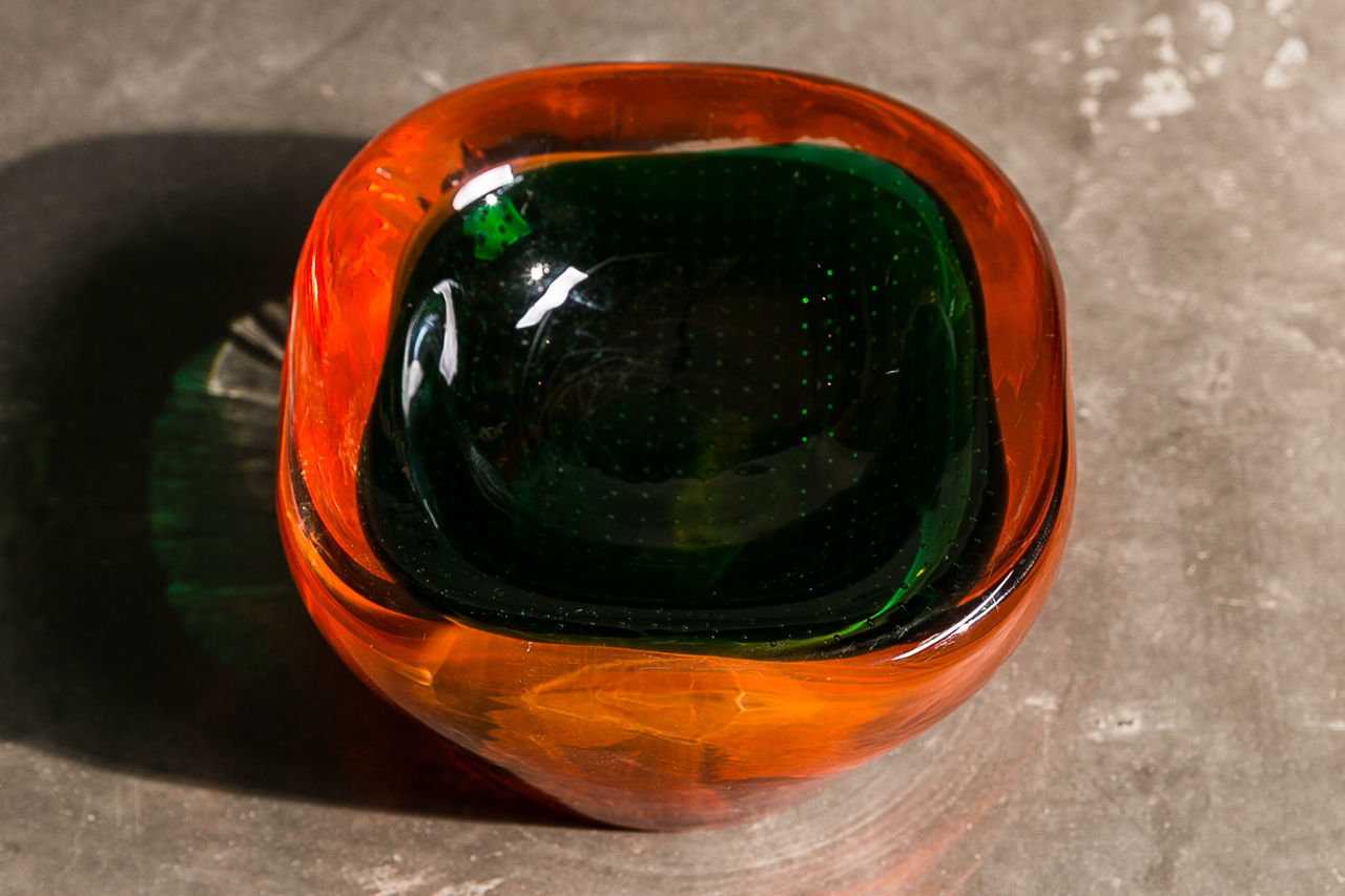 Veneziano glass ashtray Circa 1970 Italy