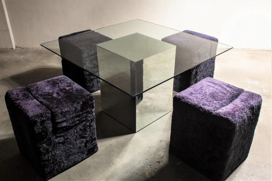 Vintage Block Table by Nanda Vigo for Acerbis