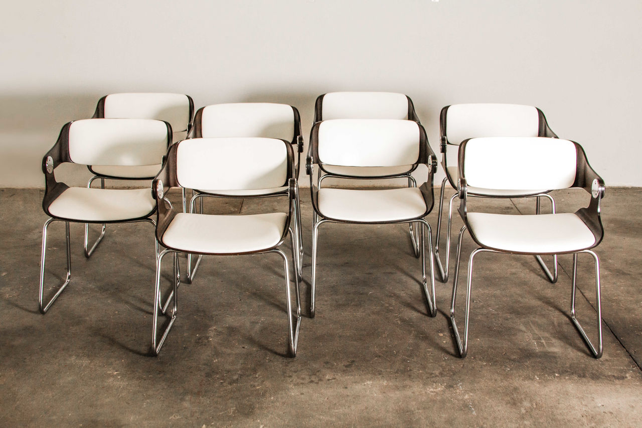 Vintage Chairs by Eugen Schmidt 1965 Set of 8