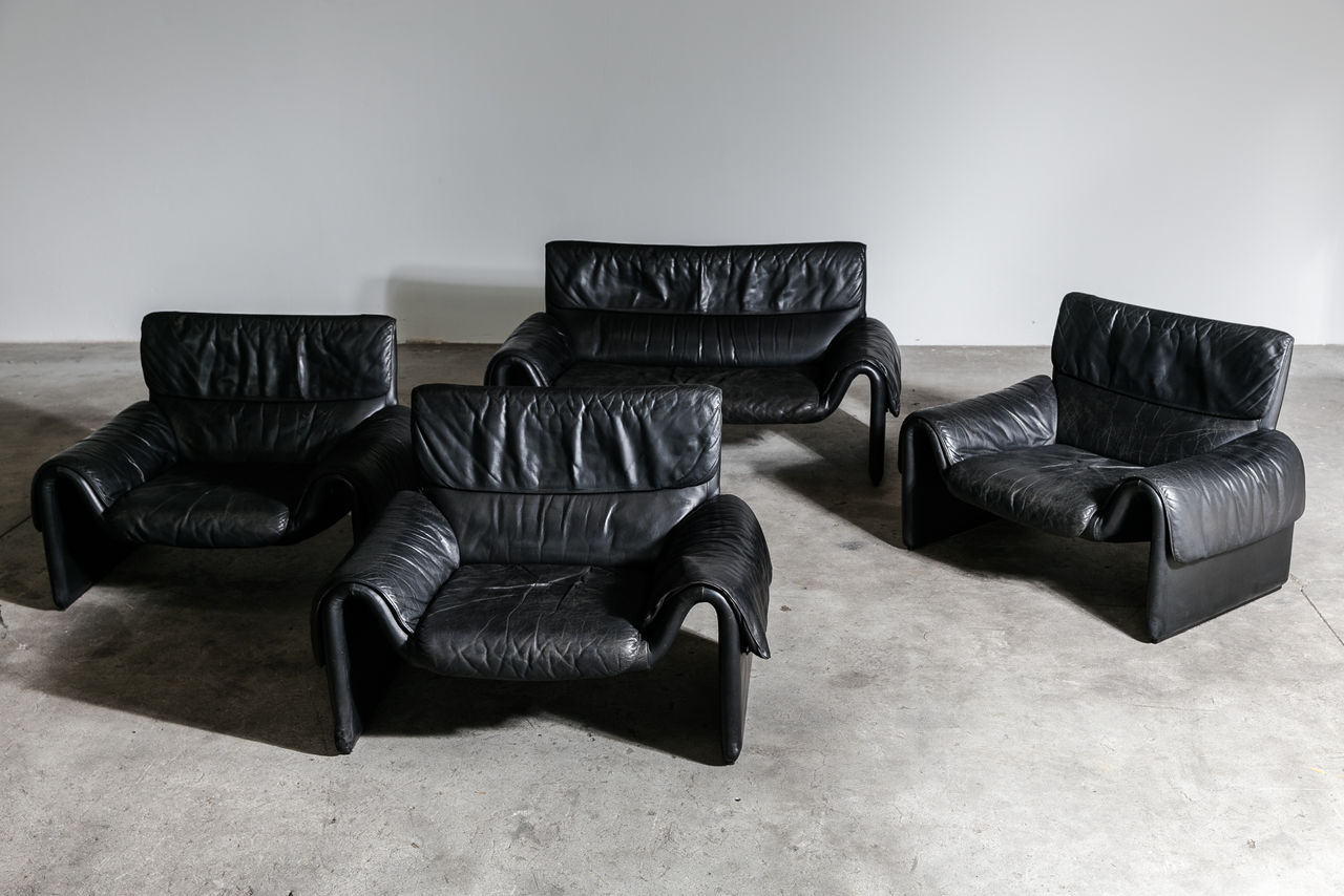 Vintage Ds 2011 Leather Sofa from De Sede 1980s