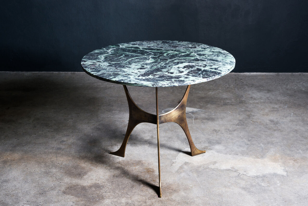 Vintage Marble and Bronze table