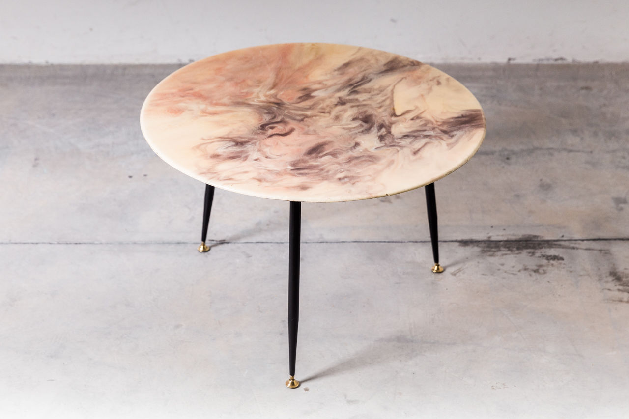 Vintage Resin Side Table Pink
