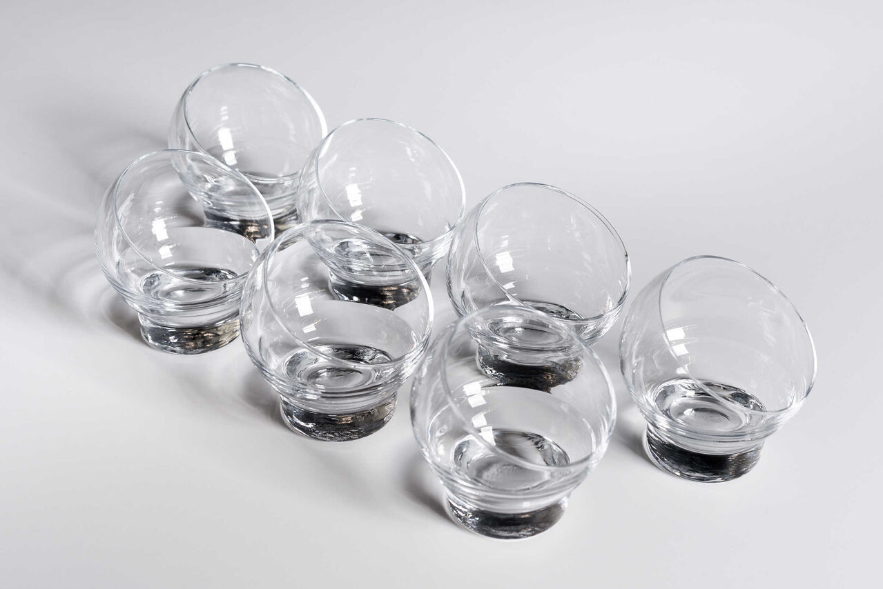 Vintage brandy glassware set